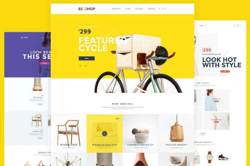 Ecoshop homepage web design responsive web inspiration