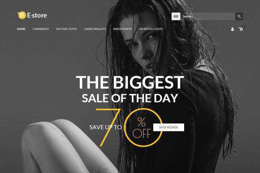 E-Store homepage web design responsive web inspiration
