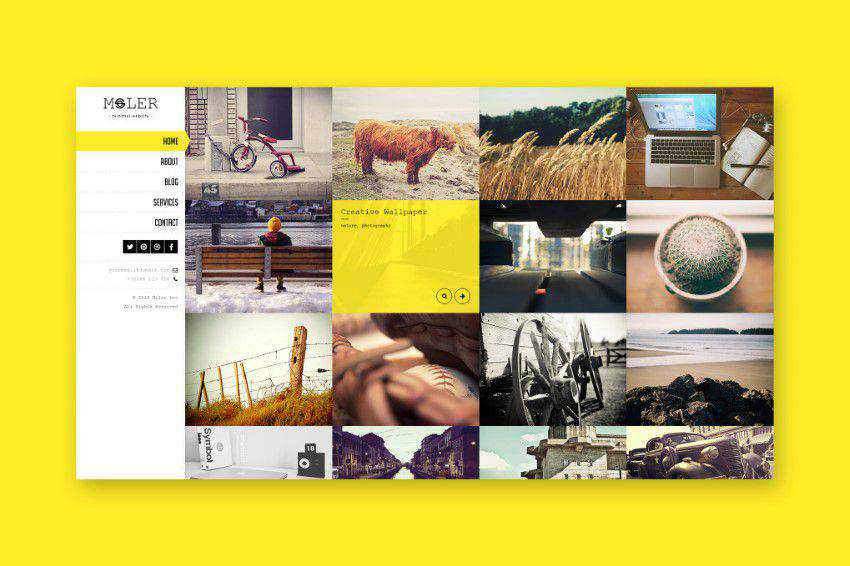 Inspiration Web Graphic Design Portfolio Moler