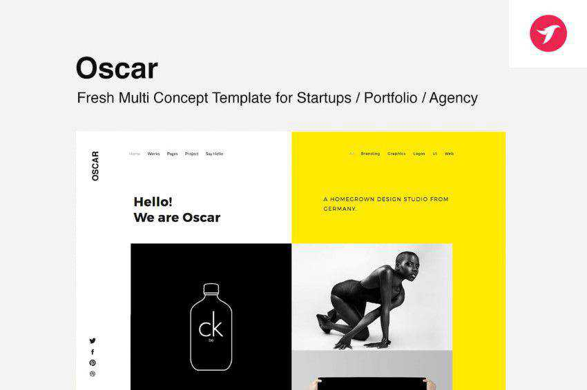 Inspiration Web Graphic Design Portfolio Oscar
