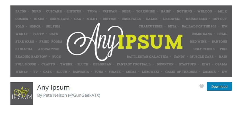 Any Ipsum