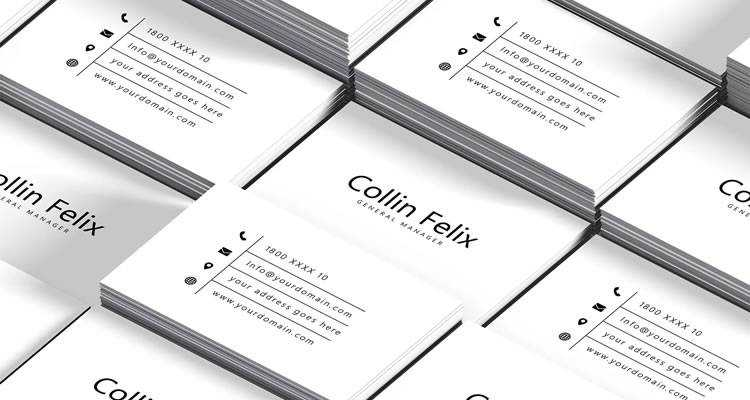Simple Individual Business Card Template