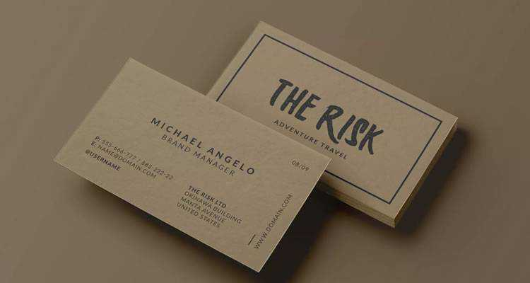Cardboard Business Card