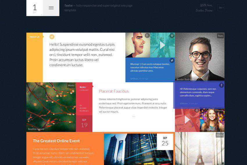 Twelve flat web design inspiration