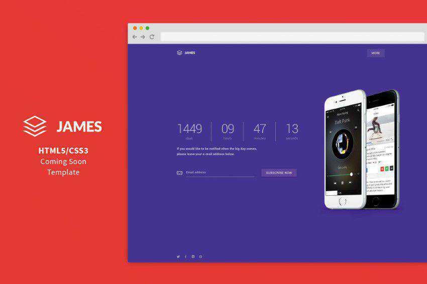 James flat web design inspiration