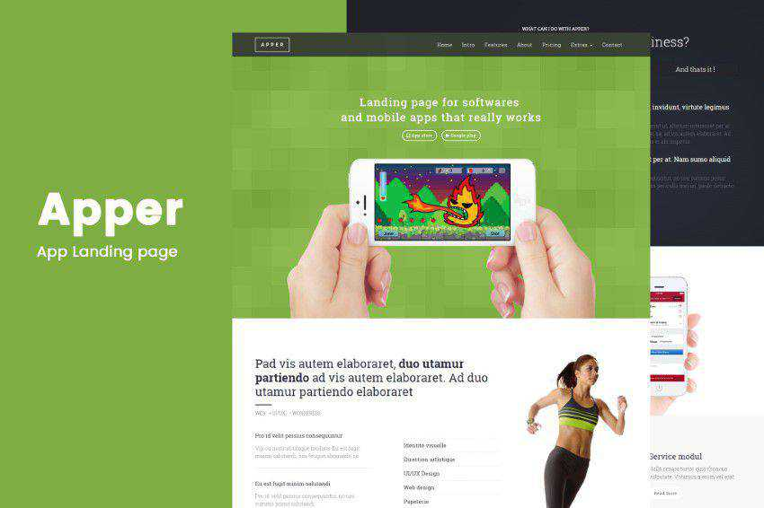 Apper flat web design inspiration