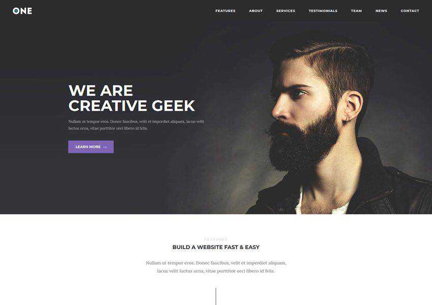 Meridian One One-Page free wordpress theme wp responsive business corporate
