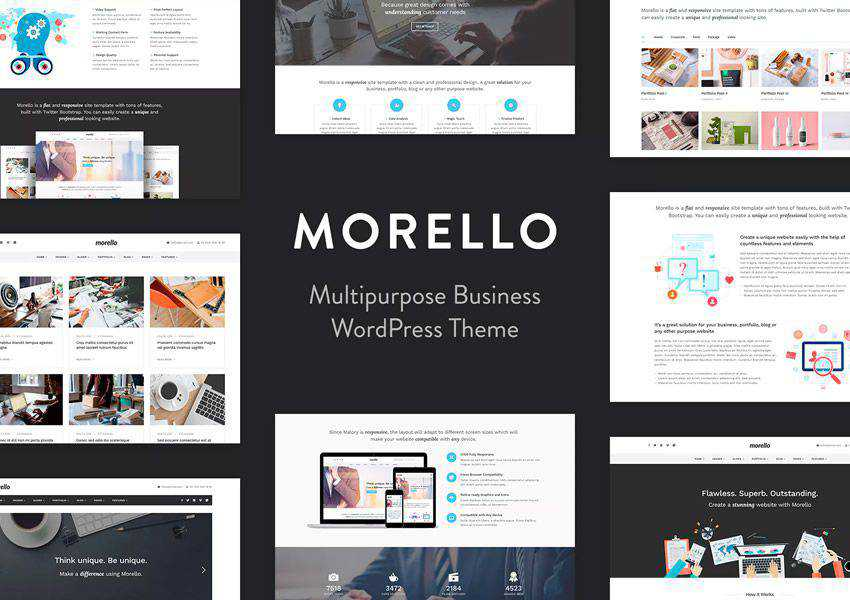 Morello Multipurpose wordpress theme business corporate
