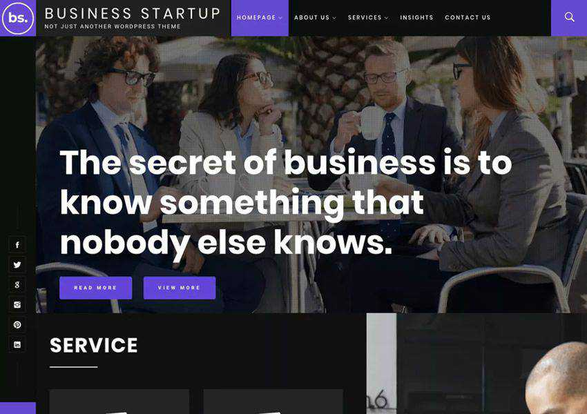 Business Startup free wordpress theme wp responsive business corporate