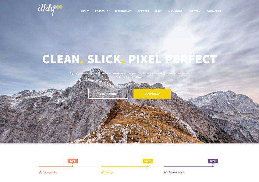 Illdy One-Page free wordpress theme wp responsive business corporate