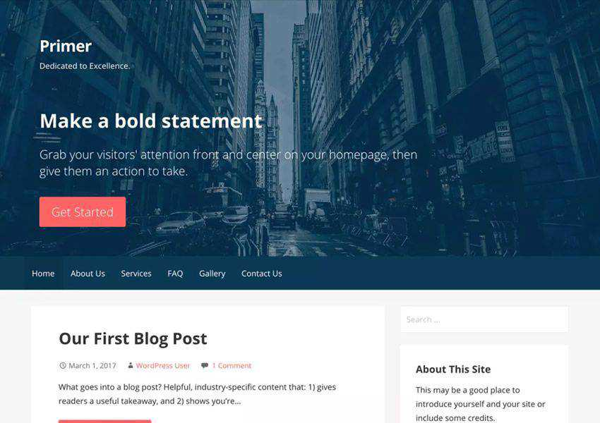 Primer Powerful free wordpress theme wp responsive business corporate