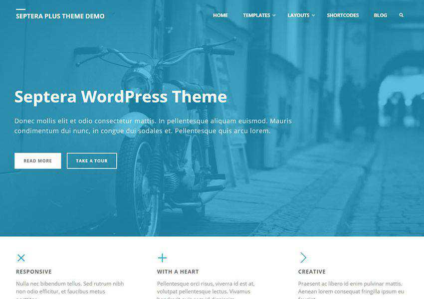 Septera Multipurpose free wordpress theme wp responsive business corporate