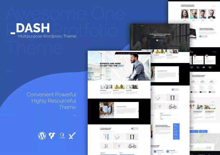 Dash creative wordpress theme business corporate