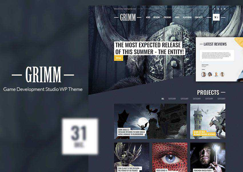 Game Studio free wordpress theme wp responsive business corporate