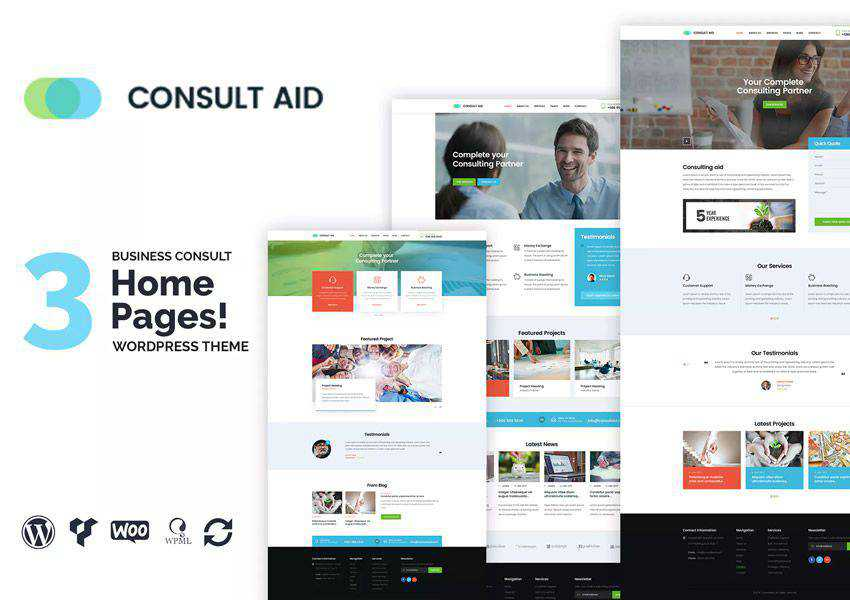 Consult Aid Business Consulting Finance wordpress theme business corporate