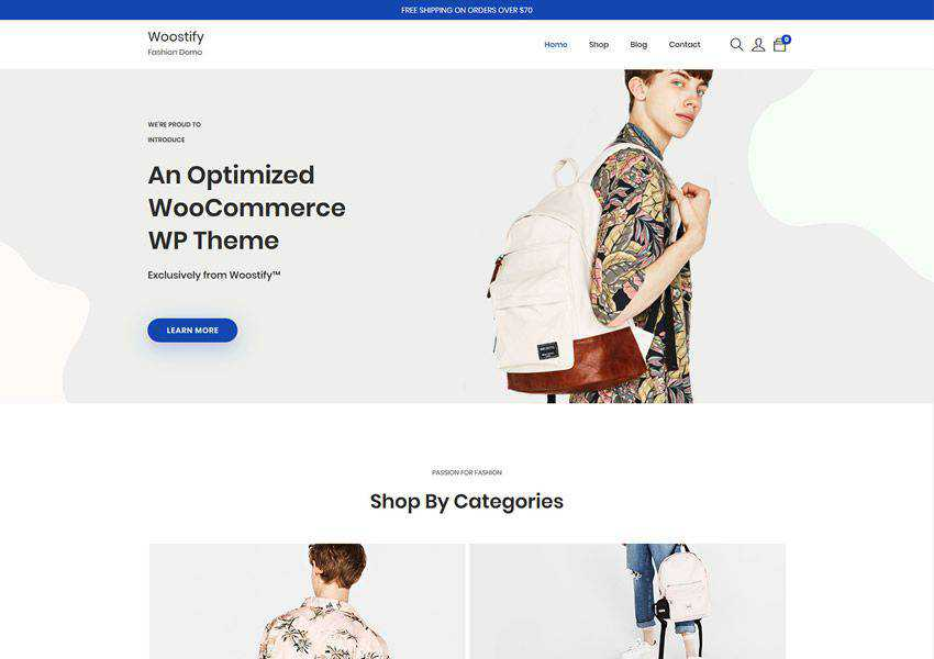 Woostify free wordpress theme wp responsive ecommerce shop woocommerce
