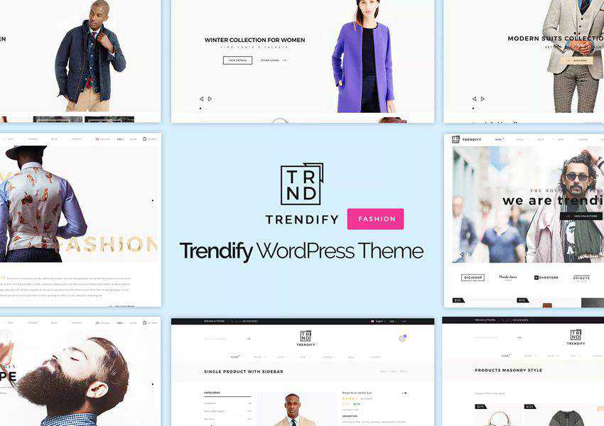 Trendify Fashion wordpress theme ecommerce shop woocommerce
