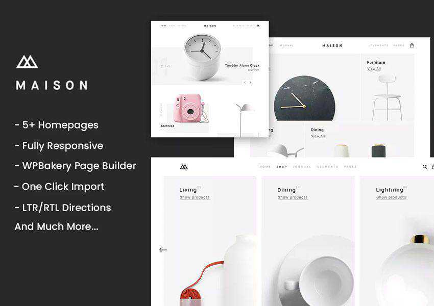 Maison Minimalist wordpress theme ecommerce shop woocommerce