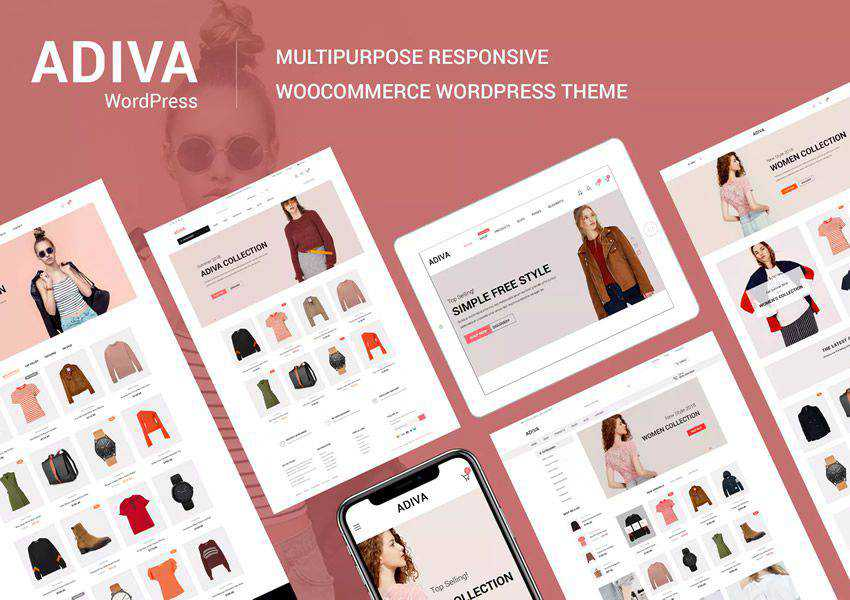 Adiva wordpress theme ecommerce shop woocommerce