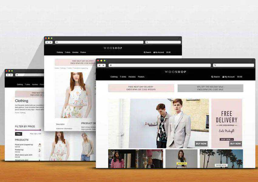 WooShop free wordpress theme wp responsive ecommerce shop woocommerce