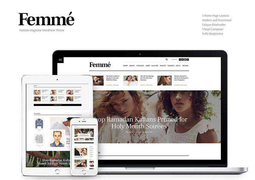 Femme Online wordpress theme fashion lifestyle blog