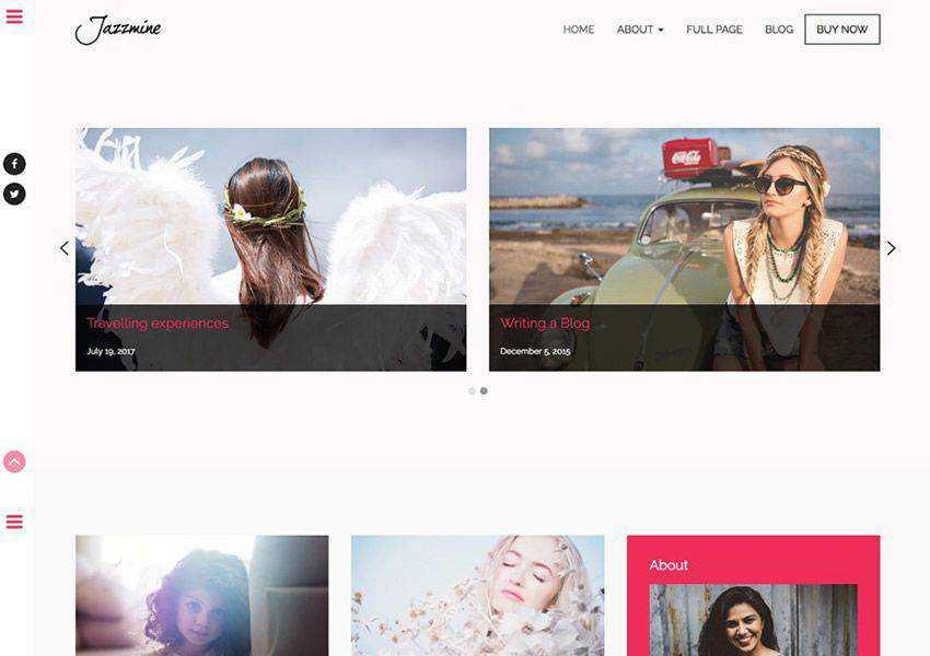 Jazzmine Fashion Interior Designers free wordpress theme wp responsive fashion lifestyle blog