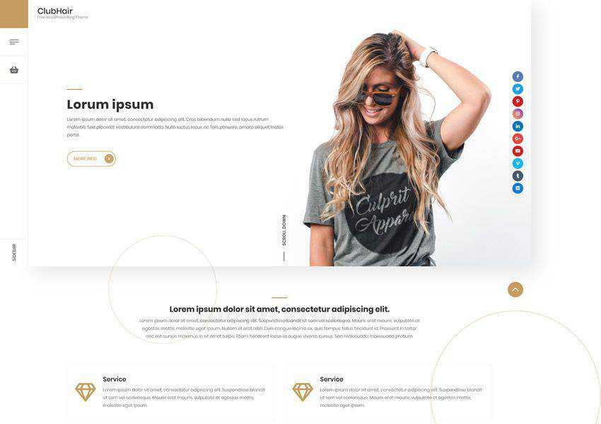 ClubHair free wordpress theme wp responsive fashion lifestyle blog