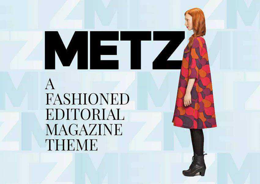 Metz Editorial Magazine wordpress theme fashion lifestyle blog