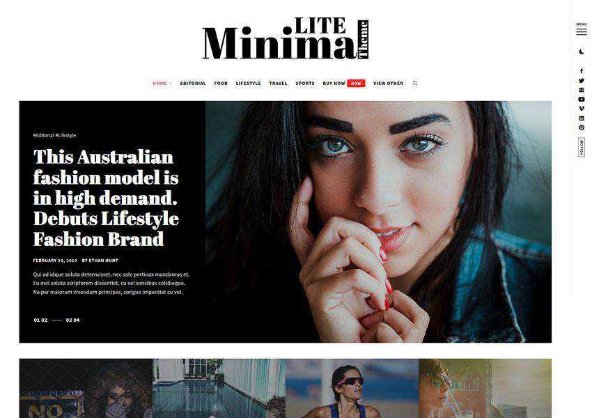 Minimal Lite - Masonry Layout free wordpress theme wp responsive fashion lifestyle blog