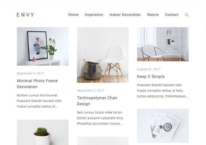 Envy Blogging free wordpress theme wp responsive fashion lifestyle blog