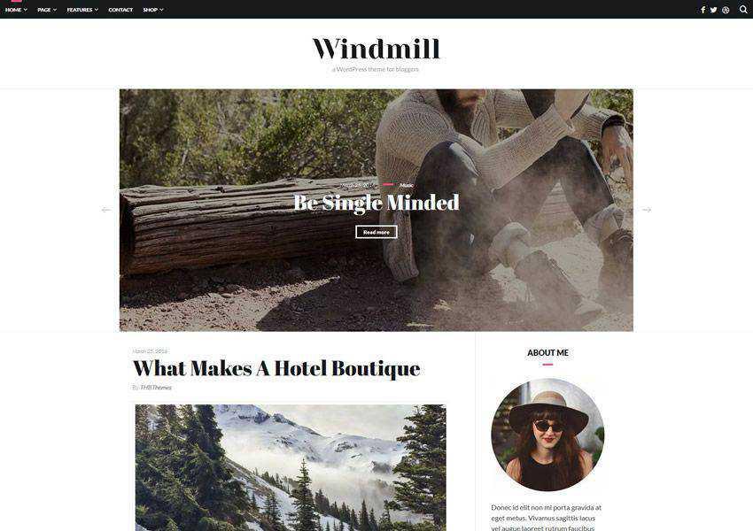 Windmill Clean Typography free wordpress theme wp responsive fashion lifestyle blog