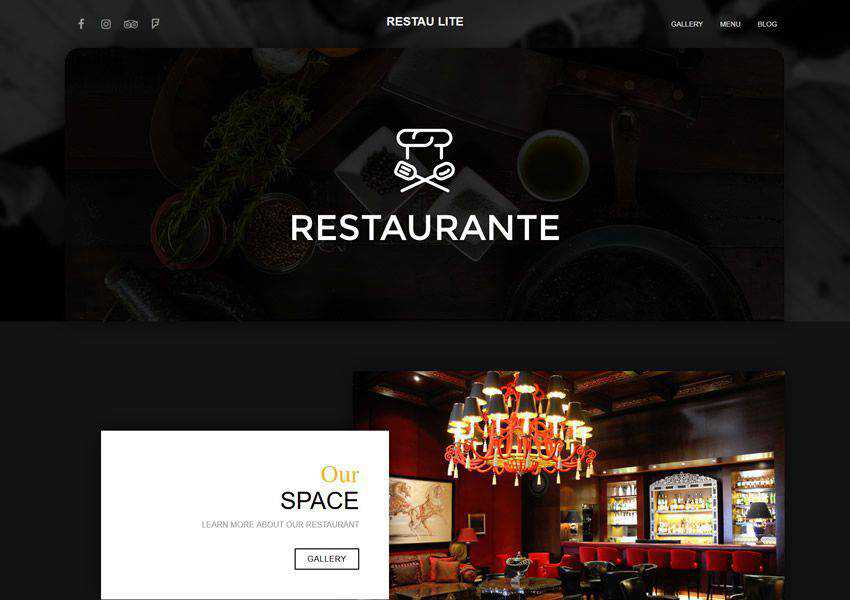 Restau Lite free wordpress theme wp responsive food culinary restaurant foodie lifestyle