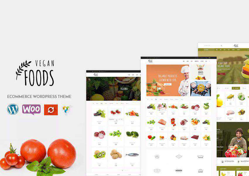 Vegan Organic Store WooCommerce wordpress theme food culinary restaurant foodie lifestyle