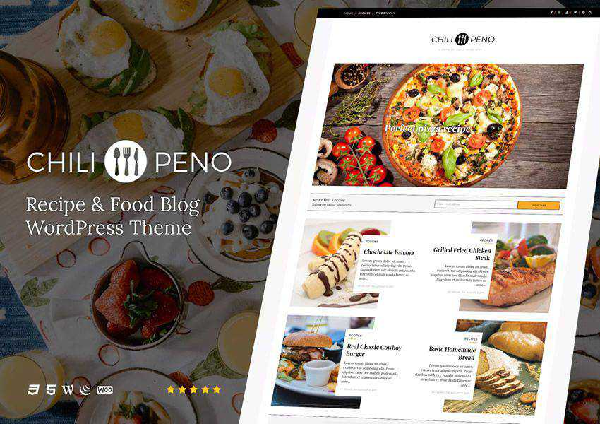 Chilipeno Recipe wordpress theme food culinary restaurant foodie lifestyle