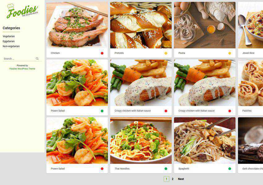 Foodies free wordpress theme wp responsive food culinary restaurant foodie lifestyle