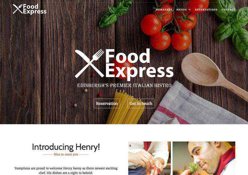 Express free wordpress theme wp responsive food culinary restaurant foodie lifestyle