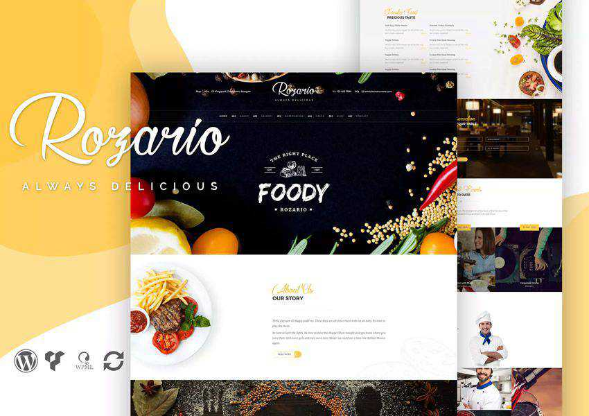 Rozario wordpress theme food culinary restaurant foodie lifestyle