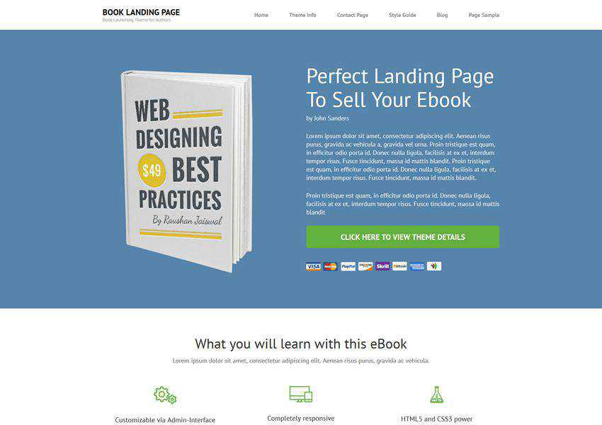 book free wordpress theme wp responsive landing page business