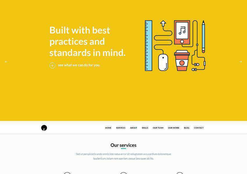 OneEngine One-Page free wordpress theme wp responsive landing page business