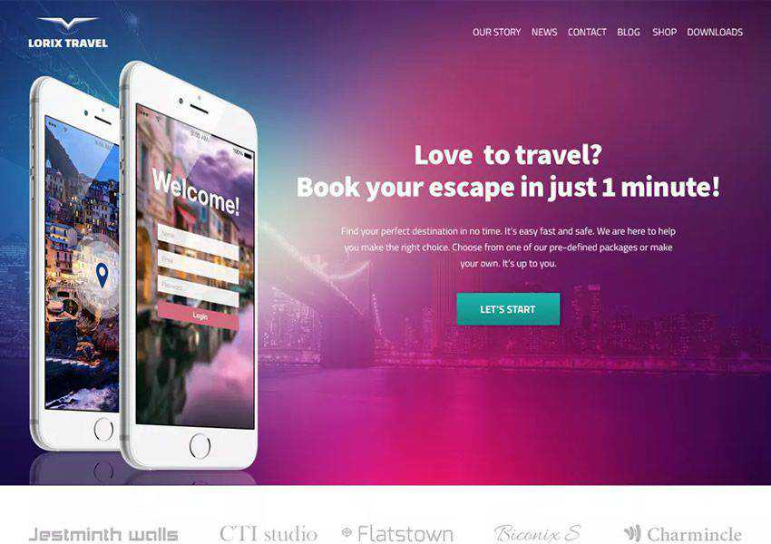 Clarina One-Page Business free wordpress theme wp responsive landing page business