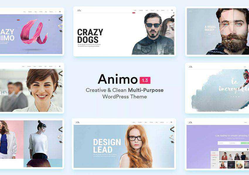 Animo Creative Multi-Purpose wordpress theme landing page business