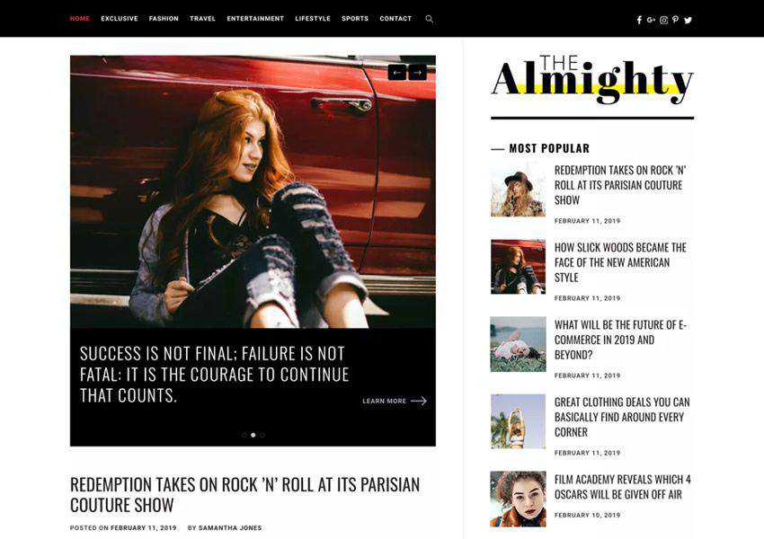 Almighty free wordpress theme wp responsive magazine news blog