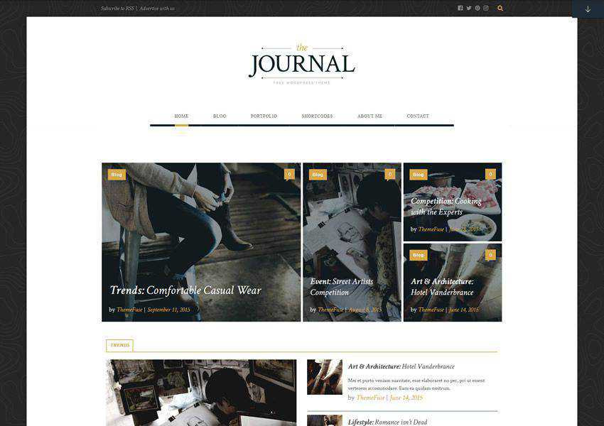 Journal free wordpress theme wp responsive magazine news blog