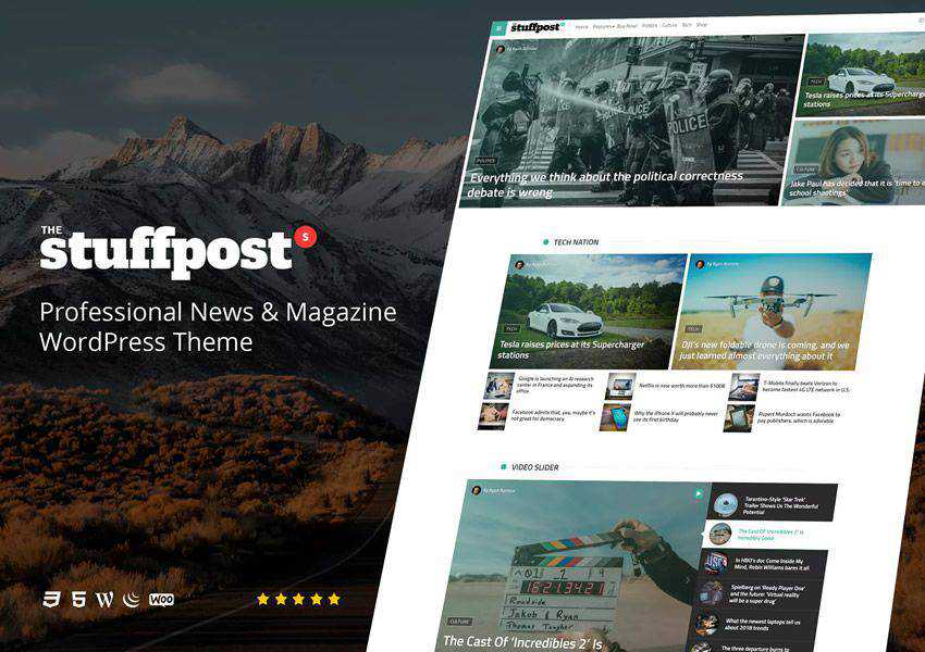 StuffPost Professional wordpress theme magazine news blog