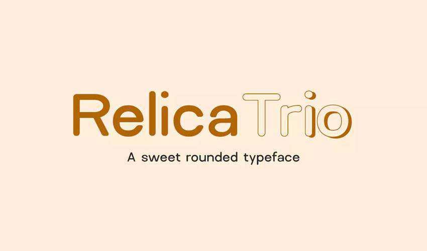 Relica Trio Sweet Rounded Sans-Serif free minimal font design typecase typography