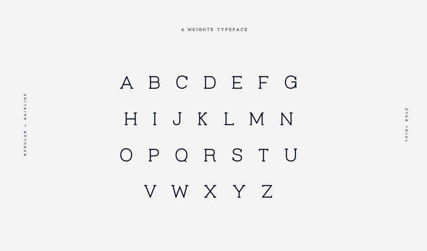 Virtuous Slab free minimal font design typecase typography