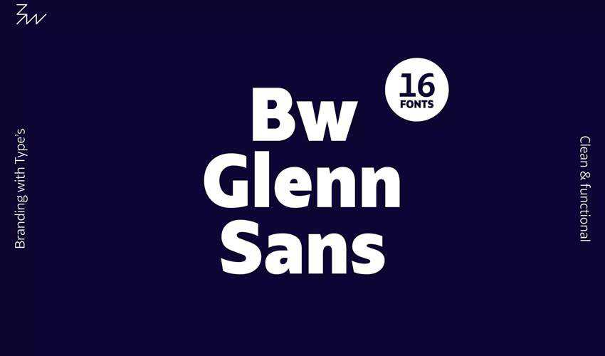 Bw Glenn Sans free minimal font design typecase typography