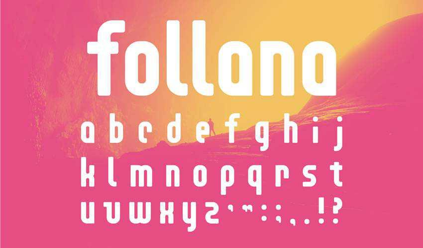 Follana free minimal font design typecase typography