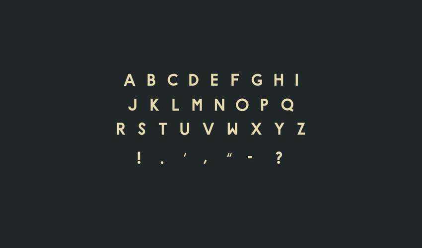 hype free minimal font design typecase typography