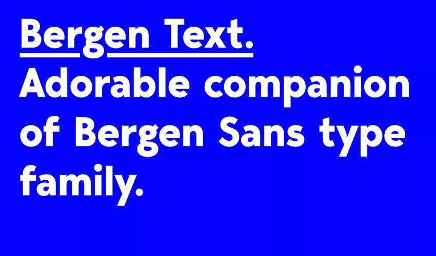 Bergen Text free minimal font design typecase typography